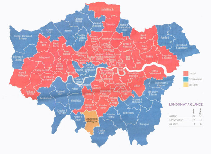 london's political map - elections 2015
