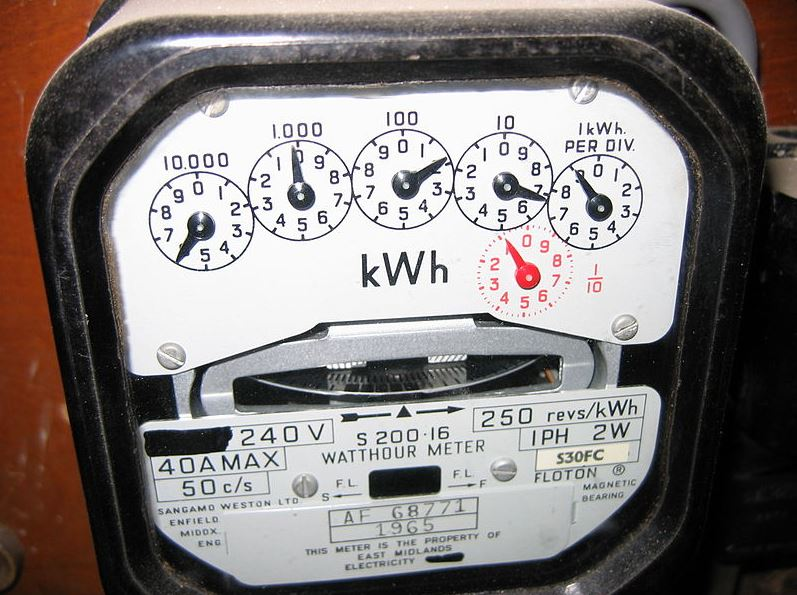 Mechanical electricity meter
