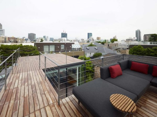 safety rails on a roof terrace design