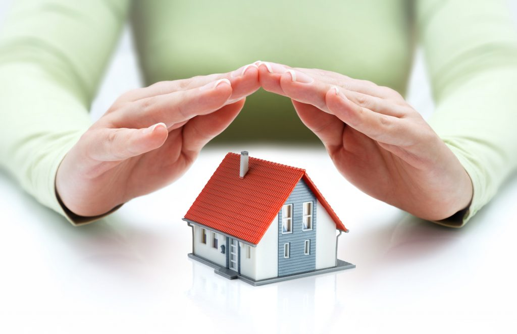 protect and insurance real estate concept