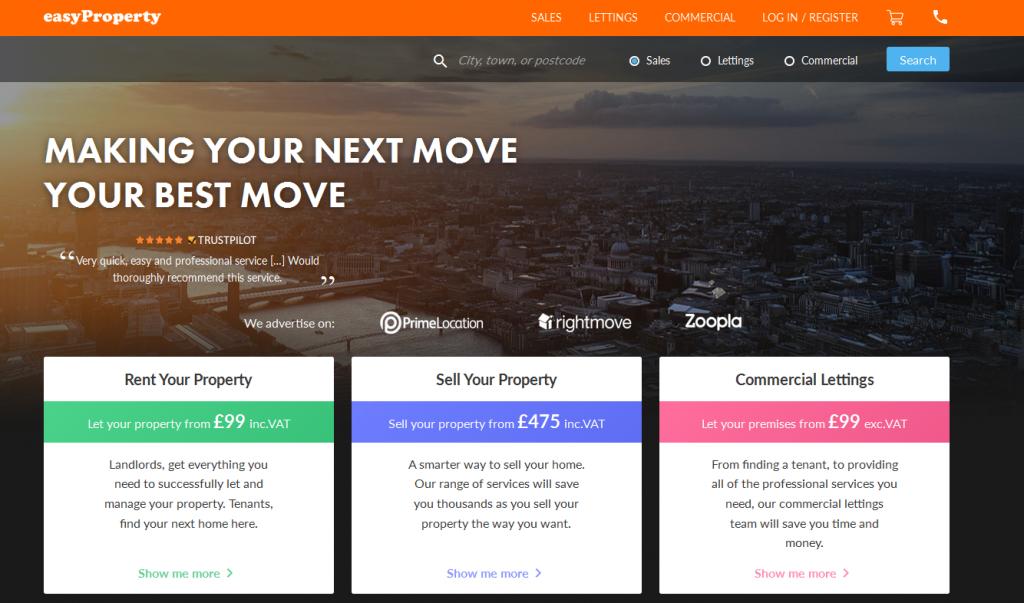 Online Estate Agents easyProperty