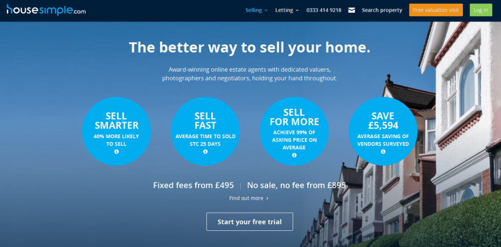 Online Estate Agents housesimple.com