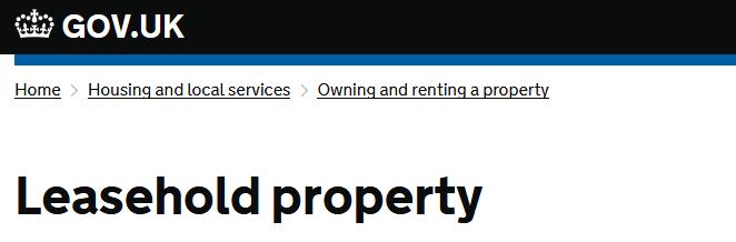 Leasehold Property - Gov.uk