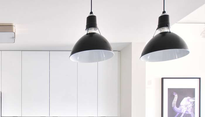 lights in a kitchen