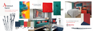 Abstract Burst home trend