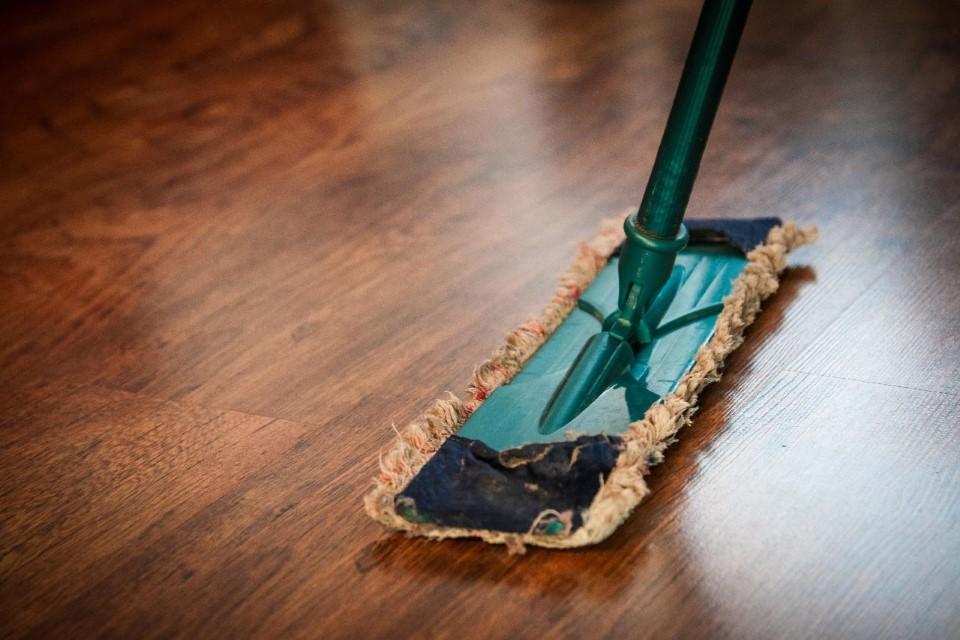 floor and mop