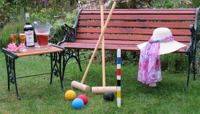 croquet games in the garden