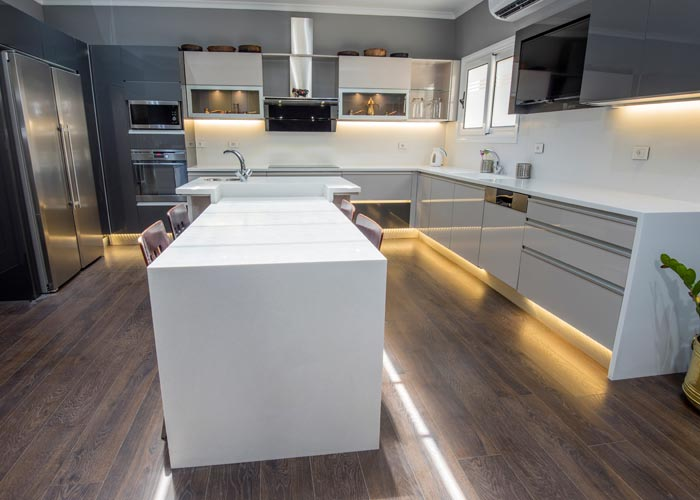 LED lights in kitchen