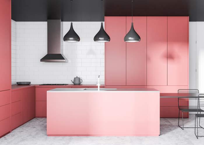 Pink Kitchen Cabinets